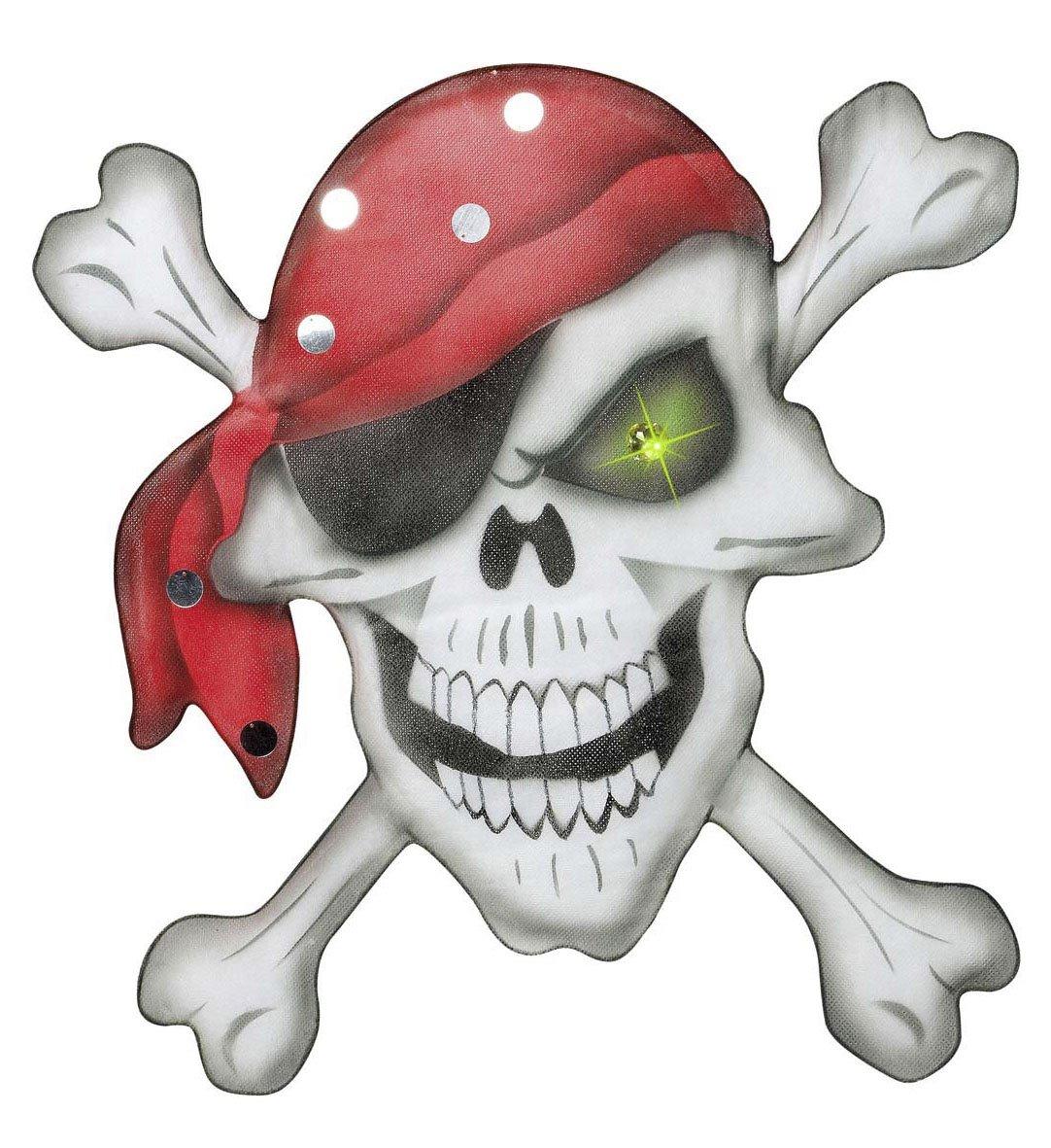 Pirate Skull Crossbones Wall Deco 49x49cm Village Party Shop