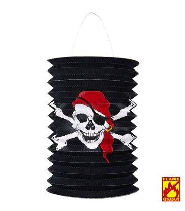 PIRATE SKULL & CROSS BONES LANTERN Ø 16cm - h 28cm