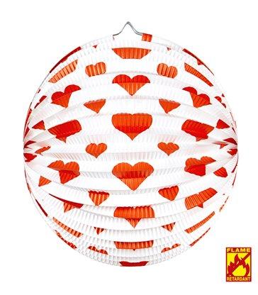 RED HEARTS LAMPION Ø 25cm