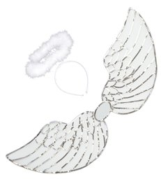 SEQUIN ANGEL DRESS UP SET (wings halo)