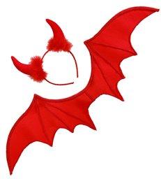 RED DEVIL DRESS UP SET (wings horns)