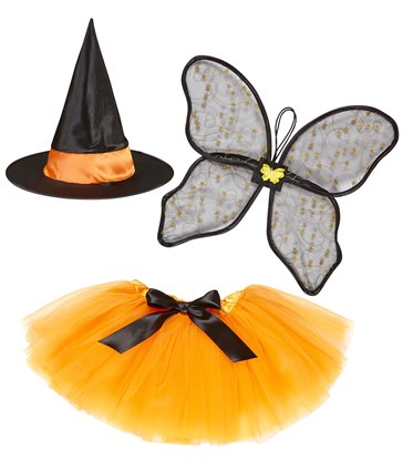 WITCH SET (WINGS WITCH HAT TUTU SKIRT)