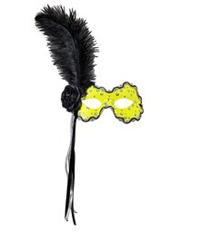 BRAZILIAN EYEMASK W/STICK - NEON YELLOW