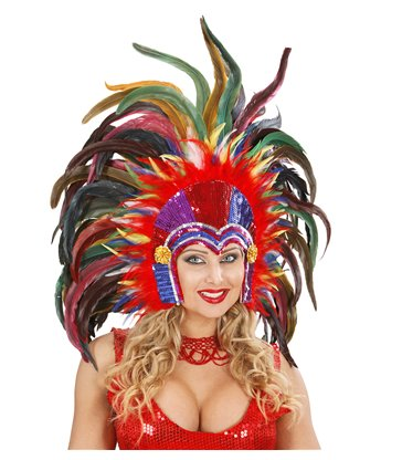 TROPICANA SEQUIN HEADDRESS MULTICOLOUR