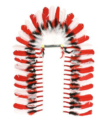 LONG AMER INDIAN HEADDRESS 110 cm