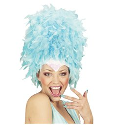 SEQUINNED FEATHER HEADDRESS TURQUOISE
