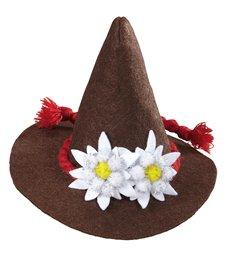 BAVARIAN MINI HAT - BROWN