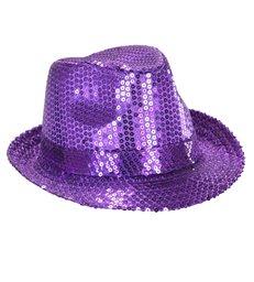 PURPLE SEQUIN HAT
