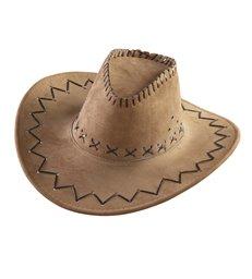 COWBOY HAT SUEDE LOOK - BROWN