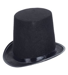 FELT EXTRA TALL TOP HAT 20cm