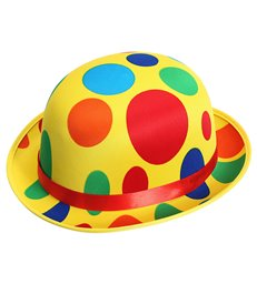 SARIN DOTTED CLOWN BOWLER HAT