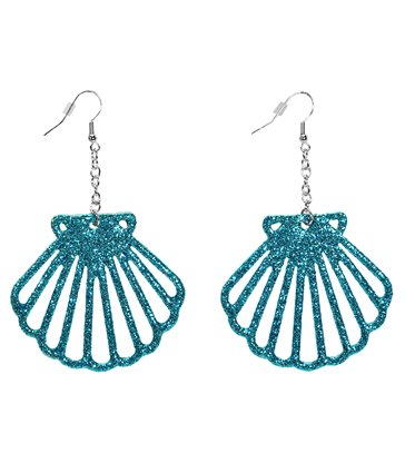 GLITTER SHELL EARRINGS