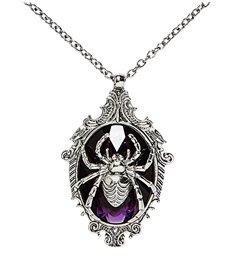 SPIDER PURPLE GEM NECKLACE