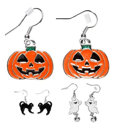 HALLOWEEN EARRINGS (child size) - 3 styles