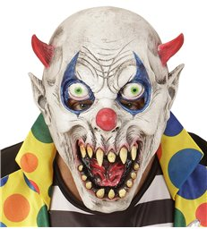 DEVIL CLOWN 3/4 MASK - CHILD