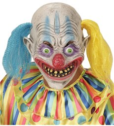 PSYCHO CLOWN 3/4 MASK WITH HAIR