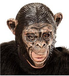 CHIMPANZEE 3/4 OPEN MOUTH MASK - CHILD