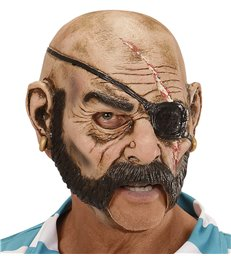 PIRATE 3/4 OPEN MOUTH MASK - CHILD