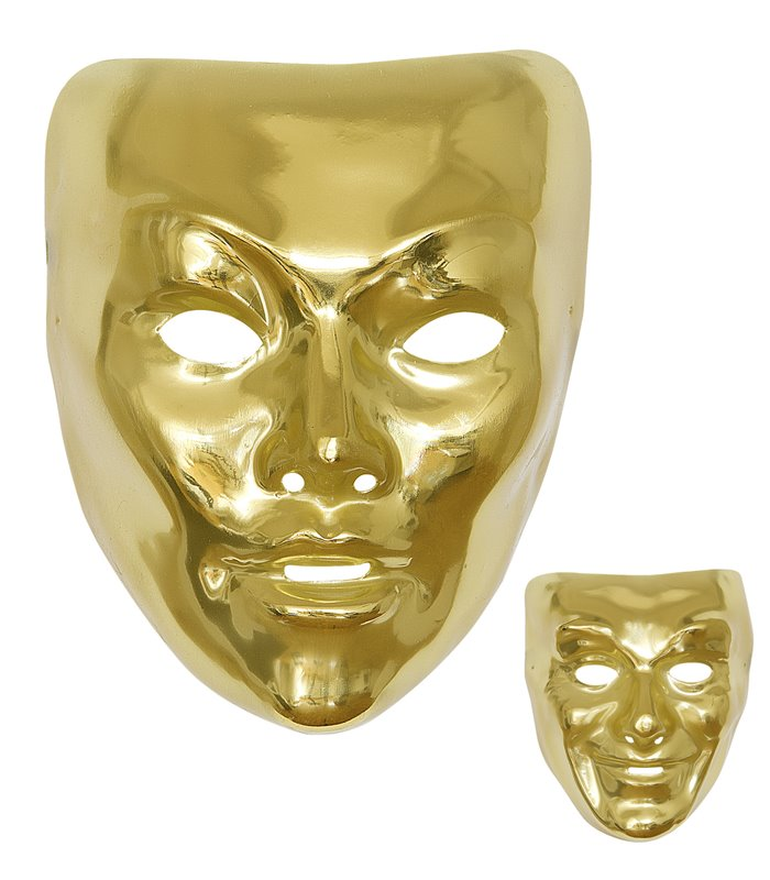 GOLD MASK PLASTIC - 2 styles