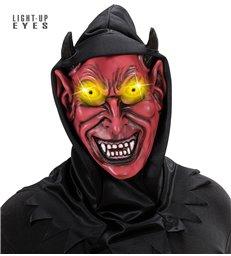 HOODED DEVIL MASK LIGHT- UP EYES