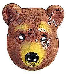 BEAR MASK PLASTIC - CHILD SIZE