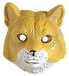 FOX MASK PLASTIC - CHILD SIZE