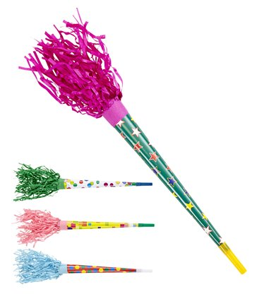 PAPER TRUMPETS 35cm - assorted colours