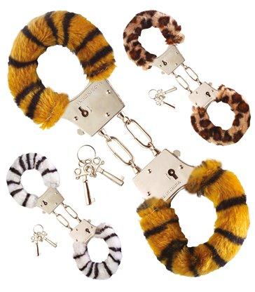 FURRY HANDCUFFS (zebra/tiger/leopard)
