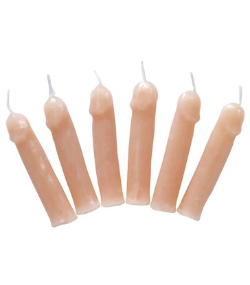 WILLY PARTY CANDLES - SET OF 6