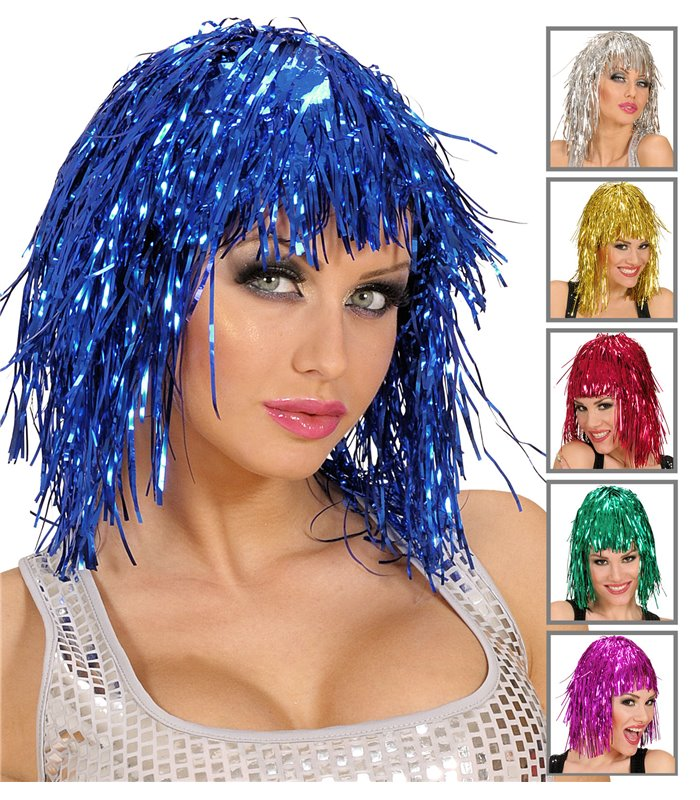 DISCO WIG (grn/blue/ppl/silver/gold/red)
