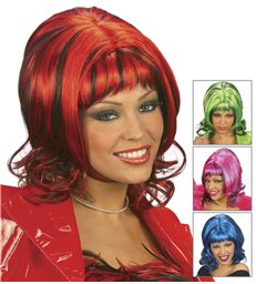 SHARONA WIG (red/blue/pink/green)