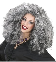 WITCH WIG IN POLYBAG GREY