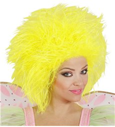 FAIRY WIG IN POLYBAG - NEON YELLOW