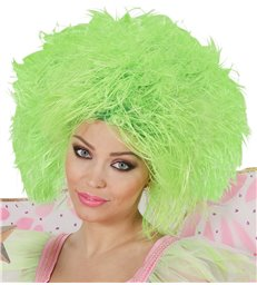 FAIRY WIG IN POLYBAG - NEON GREEN