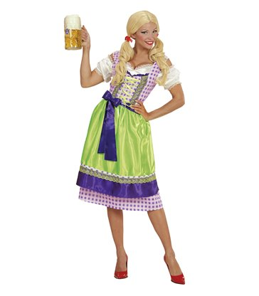 DIRNDL BAVARIAN - GREEN / PURPLE