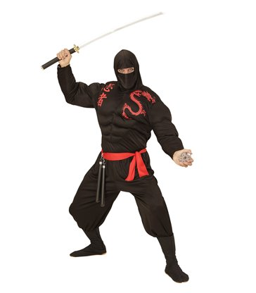 SUPER NINJA (hooded muscle shirt face mask pants belt)