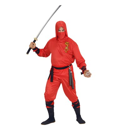 RED DRAGON NINJA (hooded coat pants belt  mask ties)