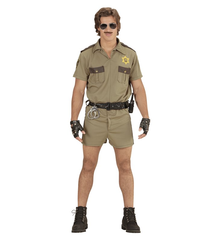 CALIFORNIA H/WAY PATROL OFFICER (shirt shorts badge)
