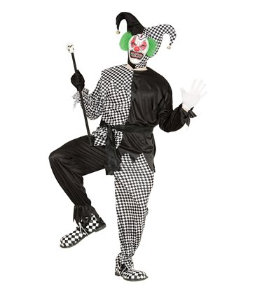 EVIL JESTER - BLACK/WHITE (coat pants belt hat)