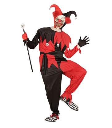 EVIL JESTER - BLACK/RED (coat pants belt hat)