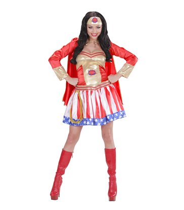 SUPER HERO GIRL (dress w/cape headpiece)