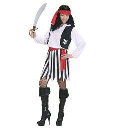 PIRATE WOMAN (shirt with vest skirt belt headband)