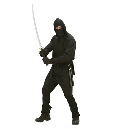 NINJA (hooded coat pants belt mask arm & leg ties)