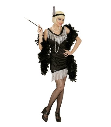 BLACK FLAPPER (dress headband with feather)