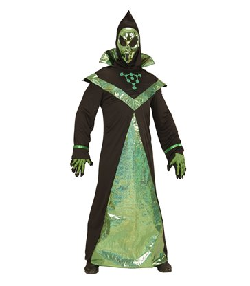 ALIEN ADULT (tunic hooded mask)