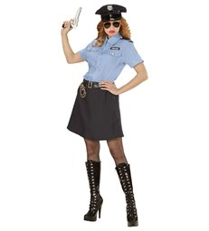 POLICE OFFICER GIRL (shirt skirt belt hat)