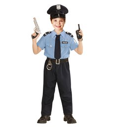 POLICE OFFICER MAN (shirt pants belt tie hat) Childrens