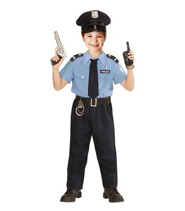 POLICE OFFICER MAN (shirt pants belt tie hat) Childrens