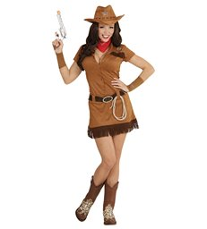 COWGIRL - BROWN (dress belt cuffs bandana hat lasso)