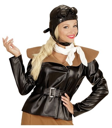 RETRO AVIATOR GIRL (jacket skirt scarf hat)